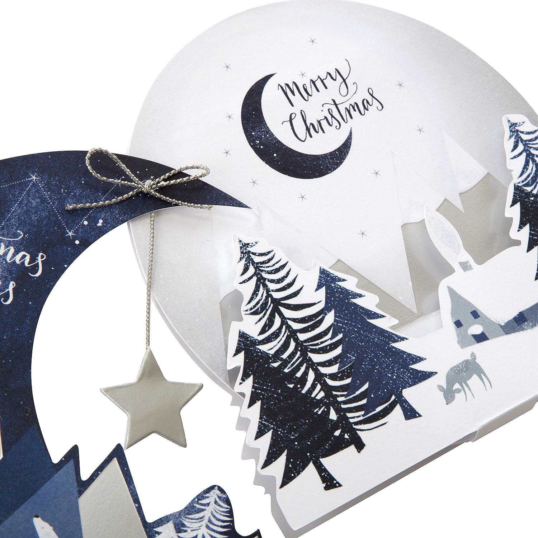 Pack of 8 in 2 Designs Handmade Winter Scene Christmas Cards from Hallmark