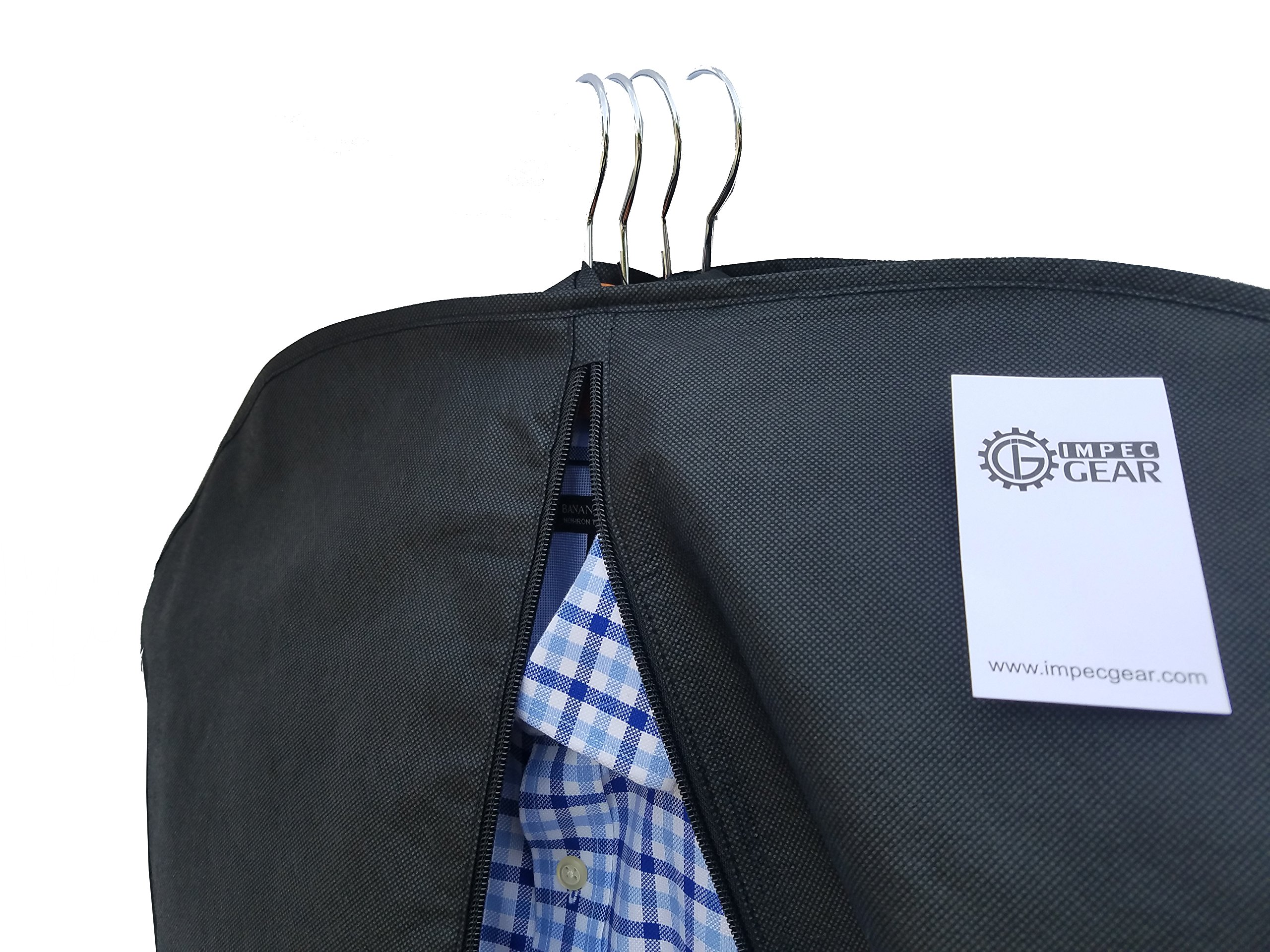 NEW 48'' Breathable Gusseted Travel Garment Bag Cover - For Suits Dress, Clothes, Tux, Jersey Storage Travel (1 PACK)