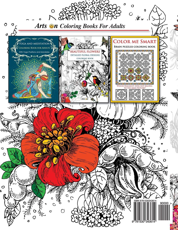 Amazon beautiful flowers detailed floral designs coloring book amazon beautiful flowers detailed floral designs coloring book arts on coloring books volume 2 9781530343614 arts on books izmirmasajfo