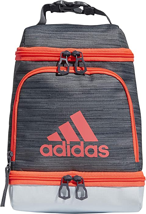adidas Excel Insulated Lunch Bag, Grey/Sky Blue/Pink/Onix, OSFA