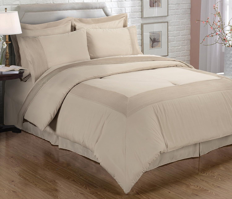 EverRouge Mason Manor 8 Piece Comforter Set, Coffee Moca