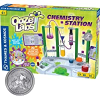 Thames & Kosmos Ooze Labs Chemistry Station Science Experiment Kit, 20 Non-Hazardous Experiments Including Safe Slime…
