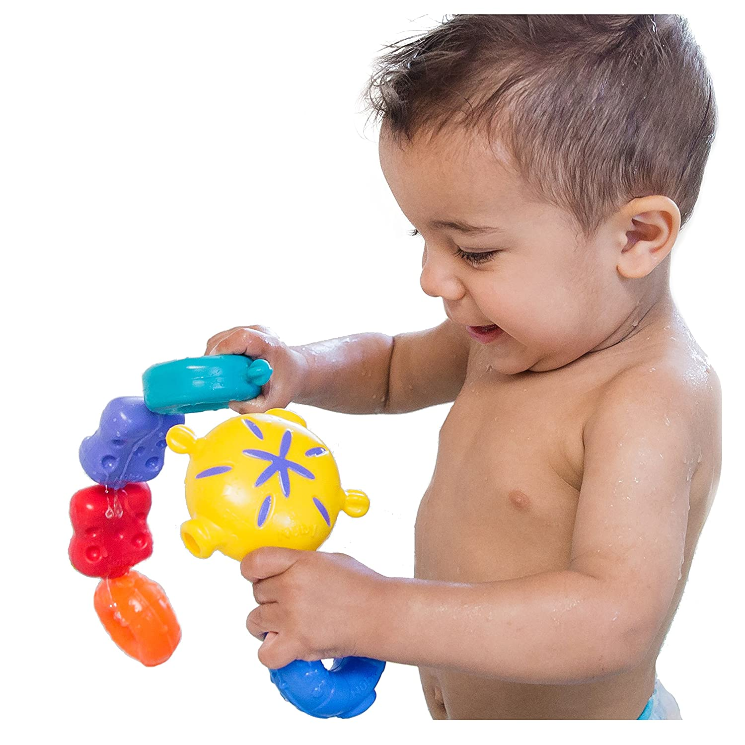 Amazon Nuby 15 Piece Fun Bath Links Toy Baby