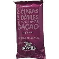 Barrita Energética 100% natural - Alta en proteínas - Avellanas, Cacao y Reishi (50g) - Pack Ahorro de 15 Barritas