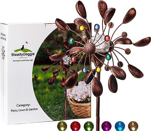 Windspiel Sonne Windspirale Dekoration Deko Windrad 100 cm  x 25 cm