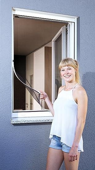 Schellenberg 50746 Protección Anti Insectos para Ventanas, mosquitera con Marco magnético, Blanco: Amazon.es: Bricolaje y herramientas