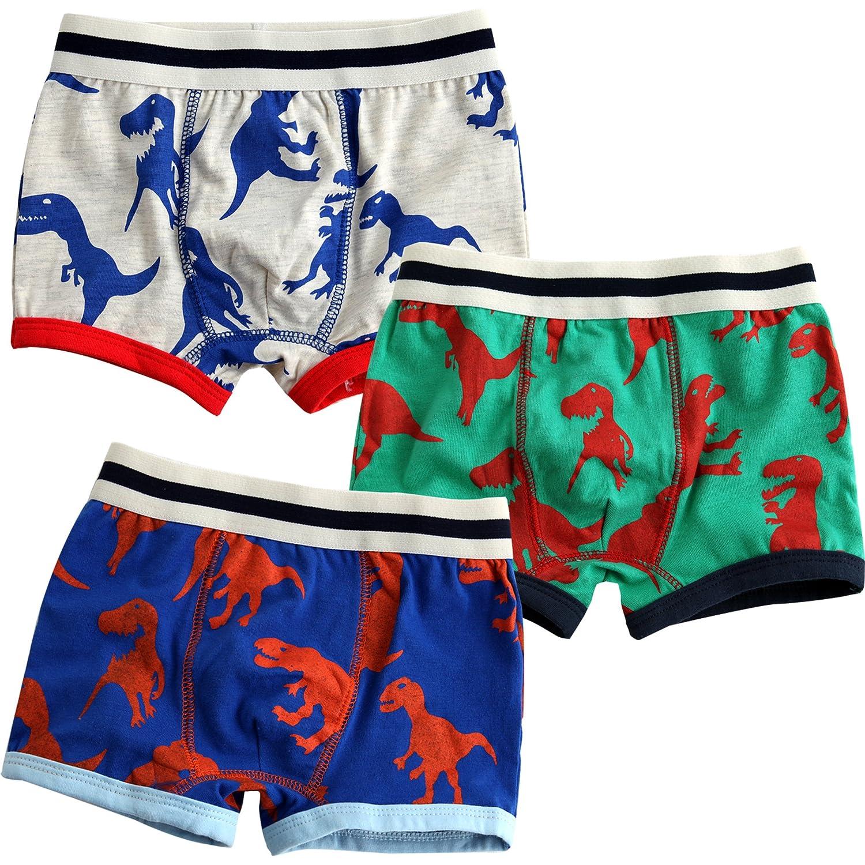 Vaenait baby Kleinkind Kinder Jungen Unterwasche Boxer 3-Pack Set Boxer Tyranno BB_012