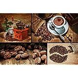 Caffè FOTOMURALE collage caffè - motivo murale caffè tap pezzeria da parete - XXL quadro decorazione da parete per cucina by GREAT ART (210 x 140 cm)