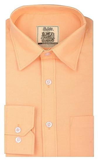 3fa954f61c The Cotton Company Men s Signature Oxford Chambray Shirt  Amazon.in ...