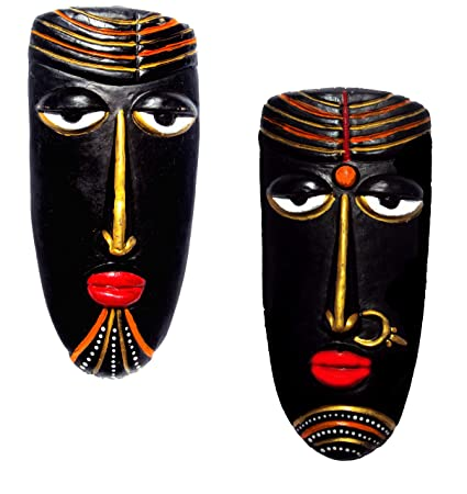 Buy New Life Terracotta Handcrafted Decorative Mask For Wall Decor ...