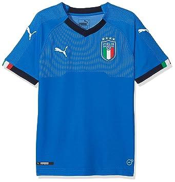 Puma FIGC Italia Kids Home Shirt Replica SS Camiseta, Niños: Amazon.es: Deportes y aire libre