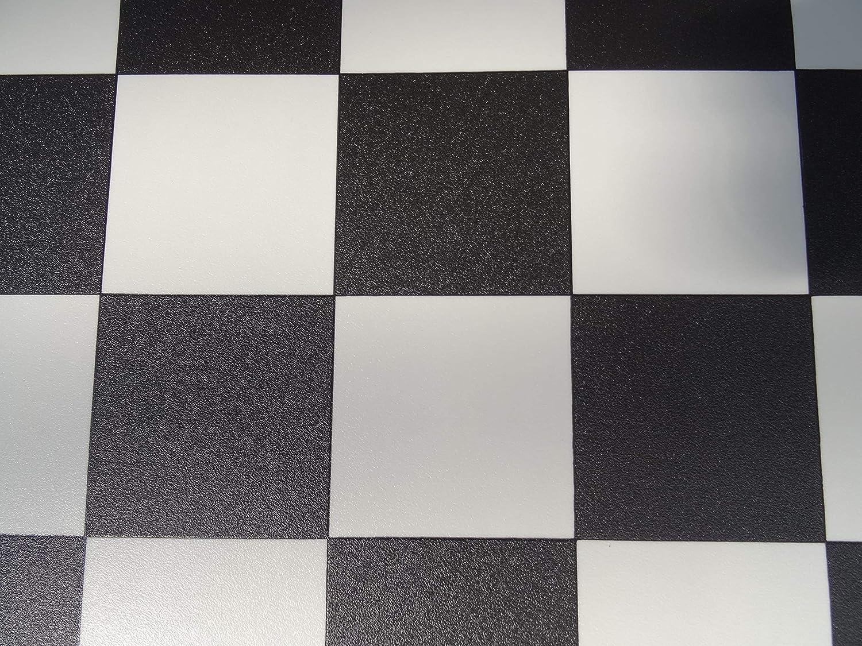 kleines Muster PVC Bodenbelag in schwarz wei/ß 9,95/€//m/²