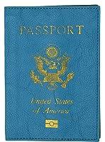 Marshal USA Gold Logo Passport Cover Holder for Travel