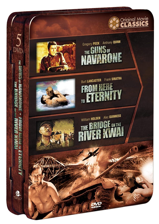WWII Original Movie Classics: Box 2 (5 DVD Plus Bonus DVD)(Tin) (The Guns of Navarone/From Here to Eternity/The Bridge on the River Kwai)