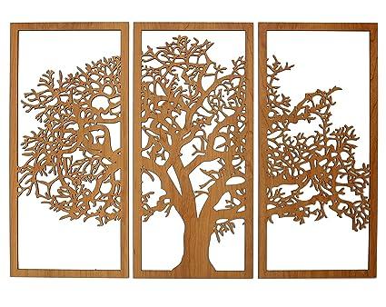 Amazoncom Skyline Workshop Tree Of Life 3d Cherry 3 Panel Wood