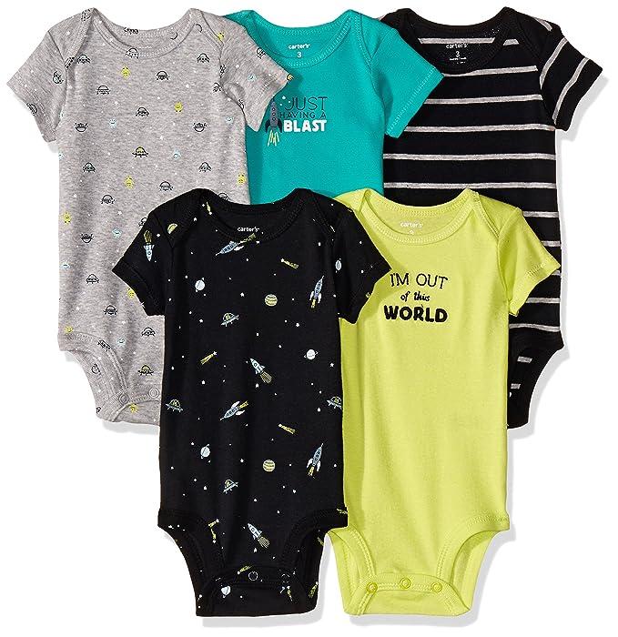 Carter\'s 126G334 Body para Bebé-Niños, Multicolor, (Paquete de 5 ...