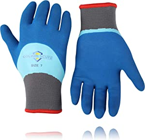 Golden Scute Freezer Winter Work Gloves,Fleece-Lined with Tight Grip Palms -Cold Temperatures, 6 pairs (Size 10, Extra Large)