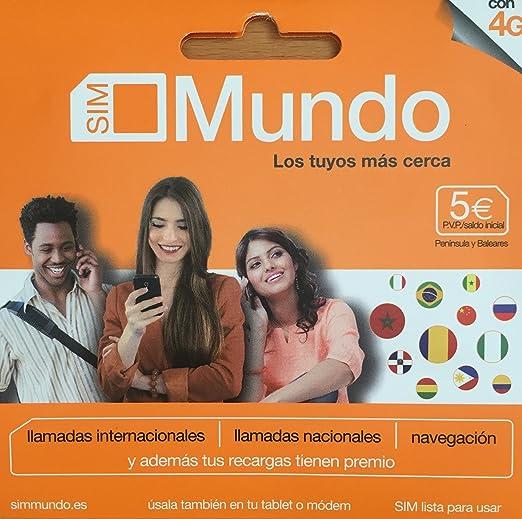 TARJETA SIM PREPAGO ORANGE MUNDO 5€ DE SALDO: Amazon.es: Electrónica