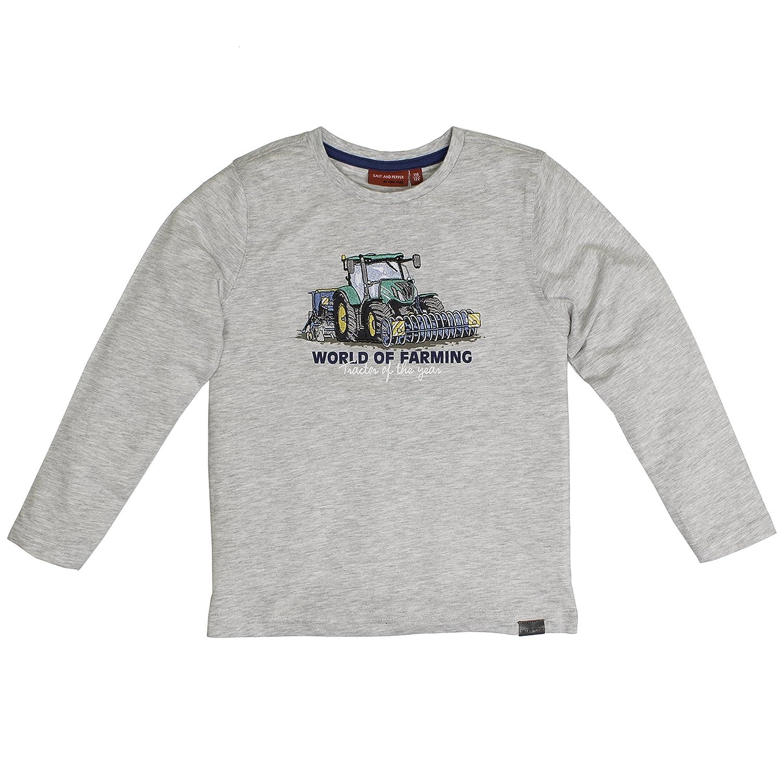 Maglietta a Maniche Lunghe Bambino Salt /& Pepper Longsleeve Tractor Uni