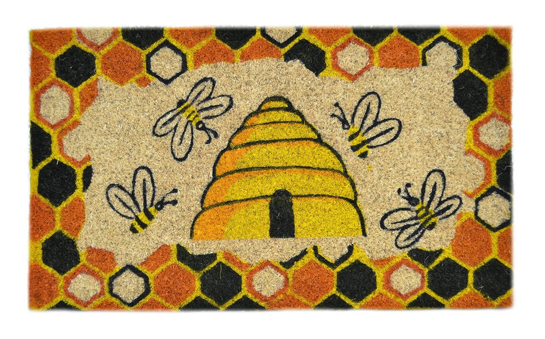 Attirant Amazon.com : Imports Decor Decorated Coir Doormat, Beehive Design, 18 Inch  By 30 Inch : Bee Door Mats : Garden U0026 Outdoor