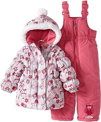 4af9629c7dee Amazon.com  Pink Platinum Baby Girls  Owl Snowsuit  Infant And ...