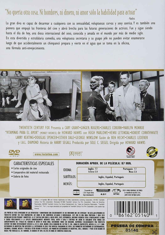 Amazon.com: Vitaminas Para El Amor (Region 4 DVD) (Monkey Business): Marilyn Monroe: Movies & TV