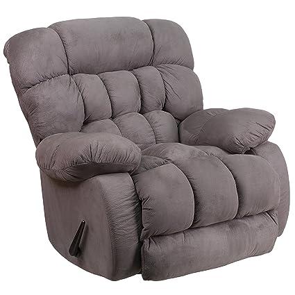 Delicieux Flash Furniture Contemporary Softsuede Graphite Microfiber Rocker Recliner