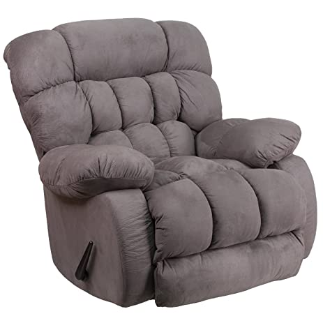 Flash Furniture Contemporary Softsuede Graphite Microfiber Rocker Recliner  sc 1 st  Amazon.com & Amazon.com: Flash Furniture Contemporary Softsuede Graphite ... islam-shia.org
