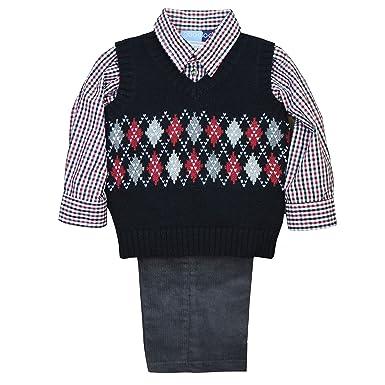 Amazoncom Good Lad Toddler Boy 3 Piece Argyle Sweater Set Clothing