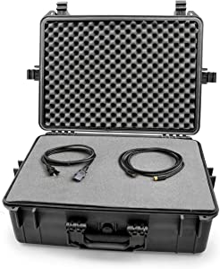 Casematix XL Waterproof Gaming Case Compatible with Valve Index VR Headset, Controllers and Select Accessories in Customizable Foam, Includes Case Only