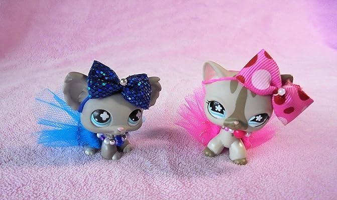 LPS Accessories Clothes Littlest Pet Shop Lot 1 Gift Bag RANDOM Set of 2 Necklaces + 2 Tutus + 2 Bows