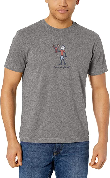 Life is Good Mens Vintage Crusher T-Shirt