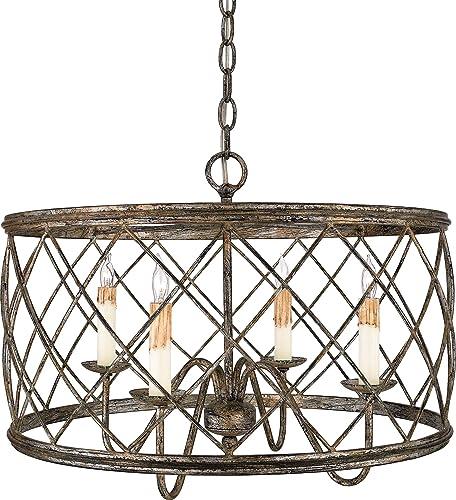 Quoizel RDY2821CS Dury Cage Pendant Lighting