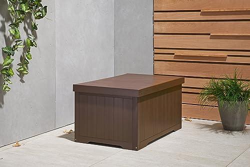 TRINITY THBBR-3108 Outdoor Deck Box, 70 Gallon, Espresso Brown