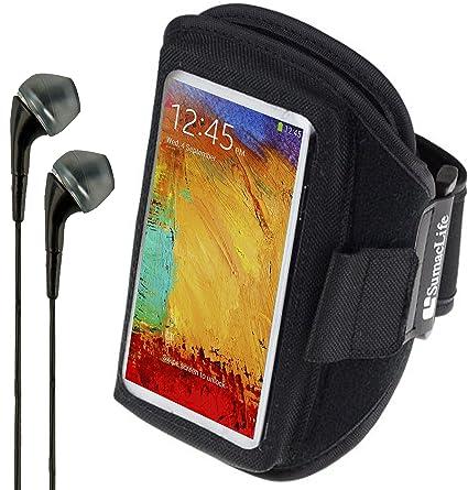 SumacLife Hardcore Fitness Brazalete para HP/Huawei/Lenovo funda para smartphone + VanGoddy auriculares (negro): Amazon.es: Deportes y aire libre