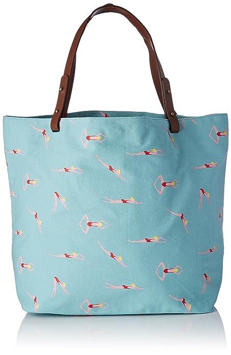 Original bolso azul con motivos de piscina