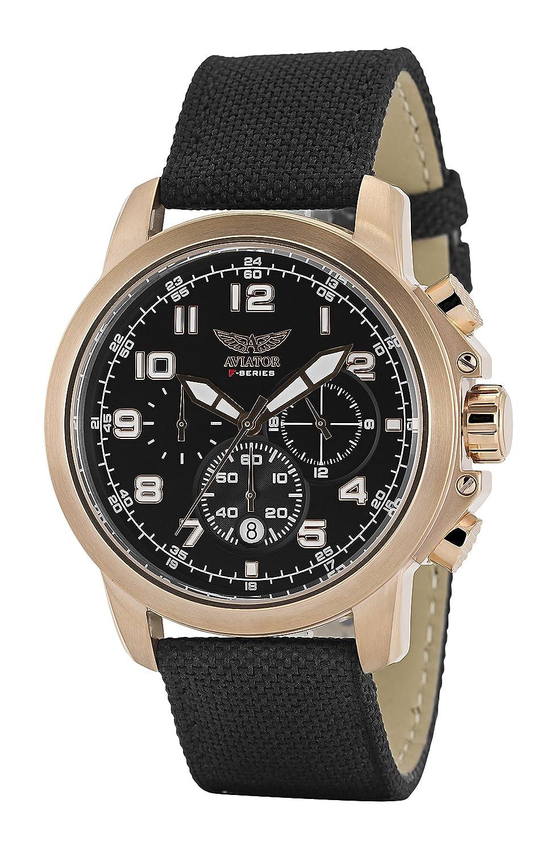 Aviator F Series - Reloj cronógrafo de Hombre para Pilotos: Aviator: Amazon.es: Relojes