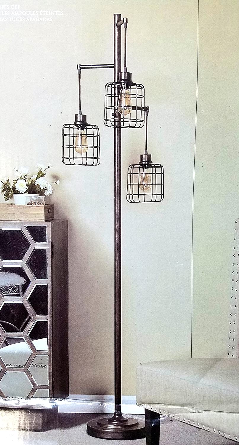 StyleCraft Piper Floor lamp, w 3 Edison Bulbs