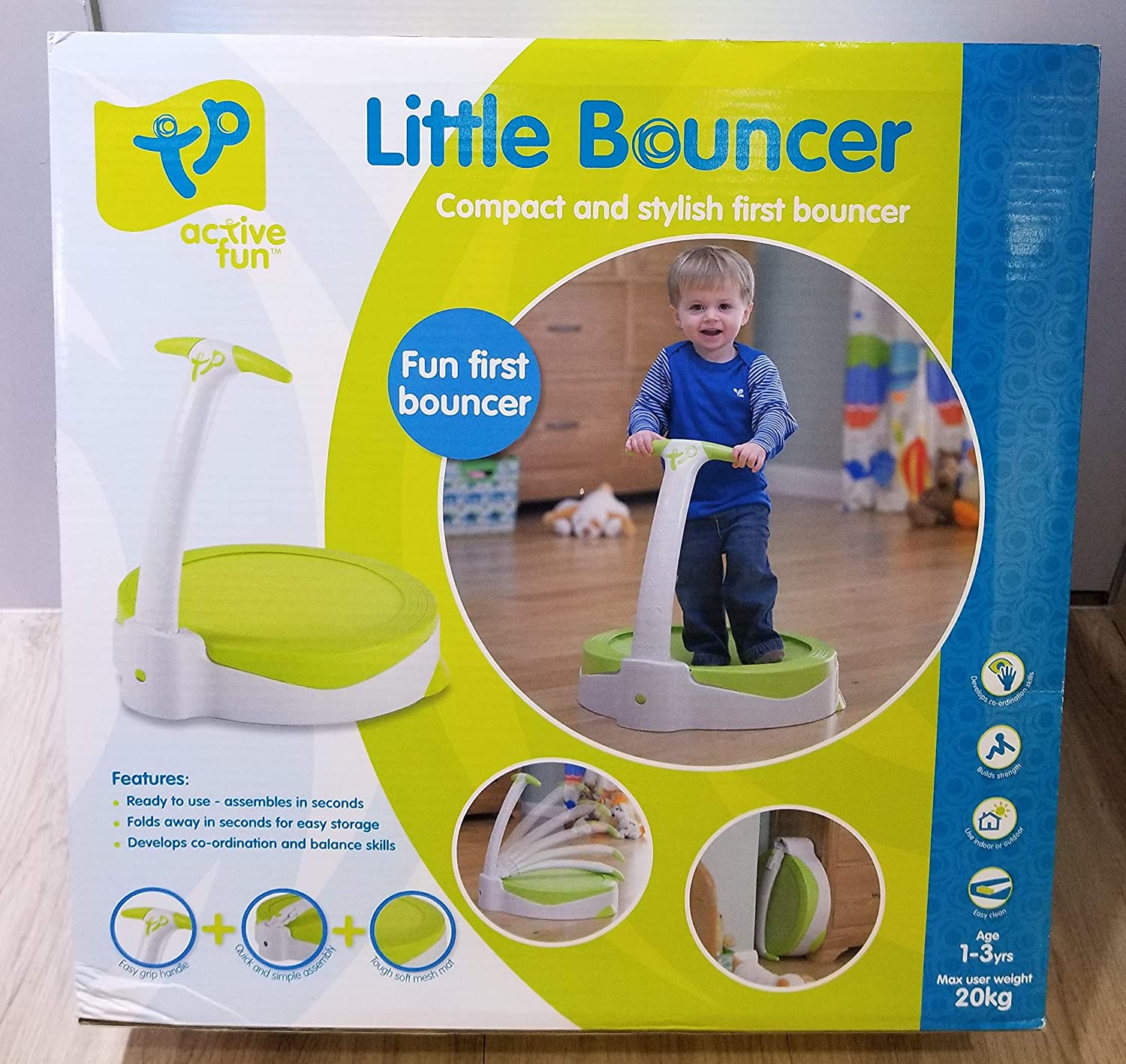 75dd1672cabf Amazon.com  Baby Bubble Bouncer Toddler Trampoline with Handle  Toys ...