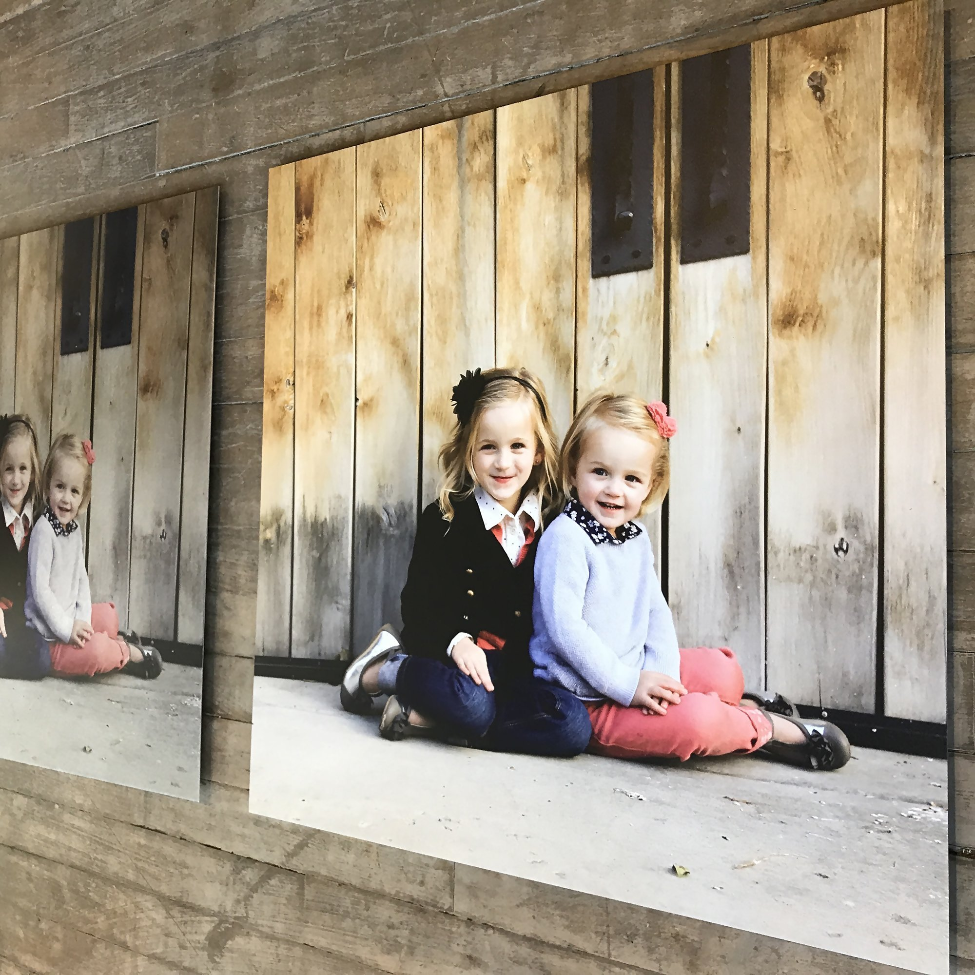 High-End Personalized Photo Prints | Custom Family Portraits on Artisan-Brushed Metal by The Fringe Gallery