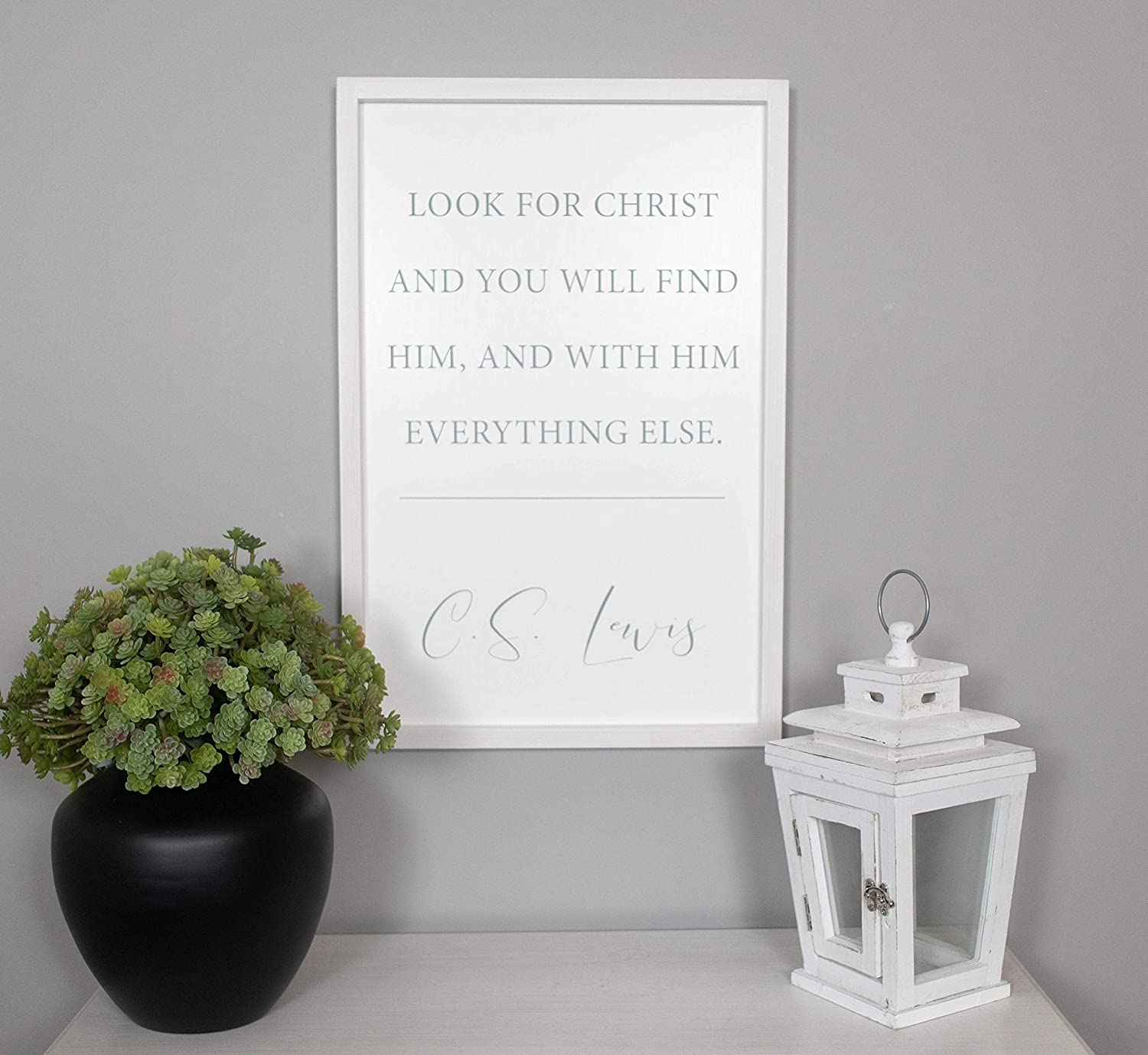 Flowershave357 Look for Christ Sign CS Lewis Quote Sign CS Lewis Wall Art Christian Signs Christian Wall Decor Farmhouse Wood Signs Wall Art