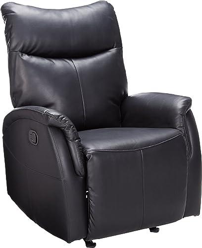 ACME Riso Black Leather-Aire Rocker Recliner
