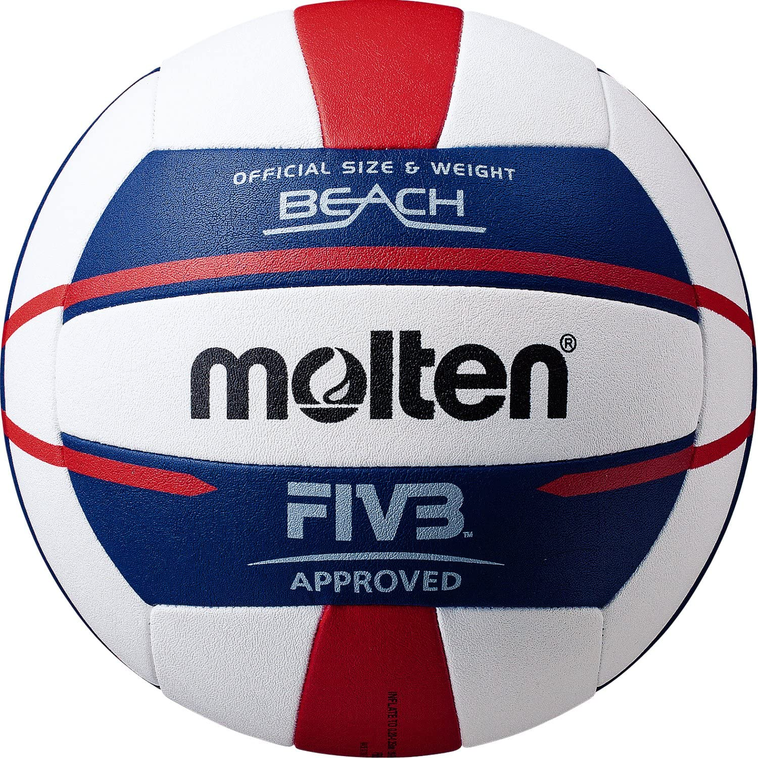 Amazon Com Molten Fivb Approved Elite Beach Volleyball Red White Blue Sports Outdoors