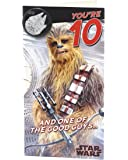 Age 10 Birthday Card - Star Wars with Birthday Card with Birthday Badge, 10th Birthday, Star Wars Chewbacca, Ideal Gift Card for Kids - Star Wars Episode 8
