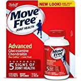 Move Free Advanced, 170 tablets - Joint Health Supplement with Glucosamine and Chondroitin, (Pack of 2)