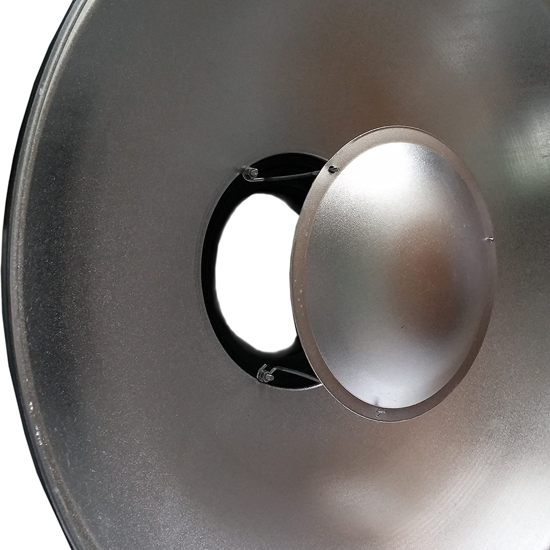 Beauty Dish DynaSun S56 56cm Plato de belleza Blanco/Plateado para Bowens con Rejilla y Panel difusor para Foto y Video de Estudio: Amazon.es: Electrónica