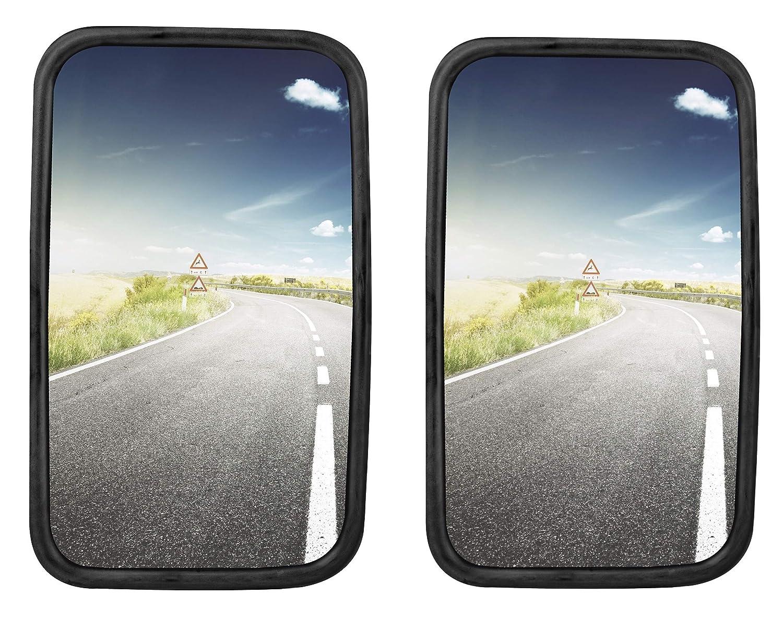 2x LKW, Transporter oder Bus Spiegel universal 30 x 18 cm Grö ß e mit flexibler Halterung SET StickandShine