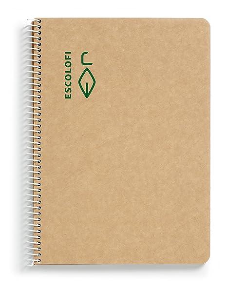 8f06dcfbd3 escolofi 130047200 – Blocco con Spirale in carta riciclata ecologico, ...
