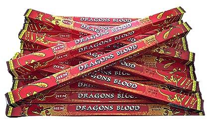HEM Dragons Varillas de Incienso de Sangre x 14 Cajas, 10 g por Caja,