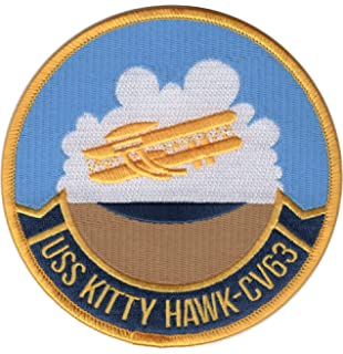 USS KITTY HAWK CV-63 PATCH  3 inch Round Patch